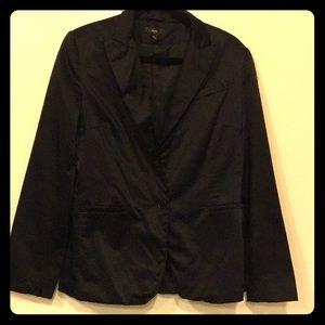 H&M black satin blazer size 14